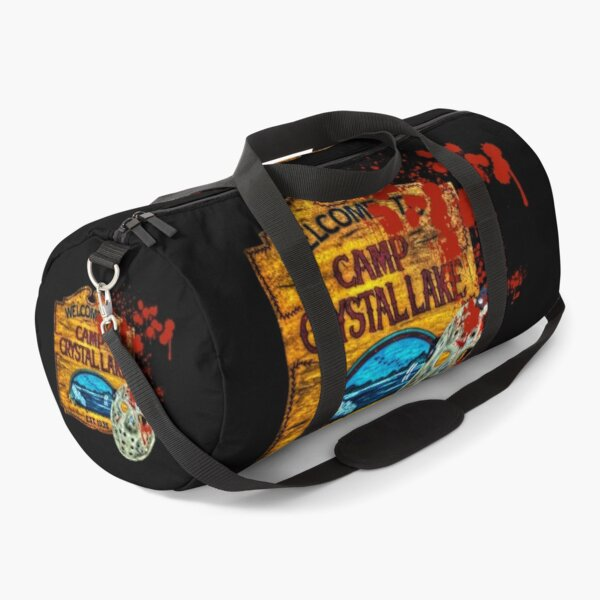 Friday The 13th, Camp Crystal Lake, Jason Voorhees Mask, Movie Fan  Art Duffle Bag