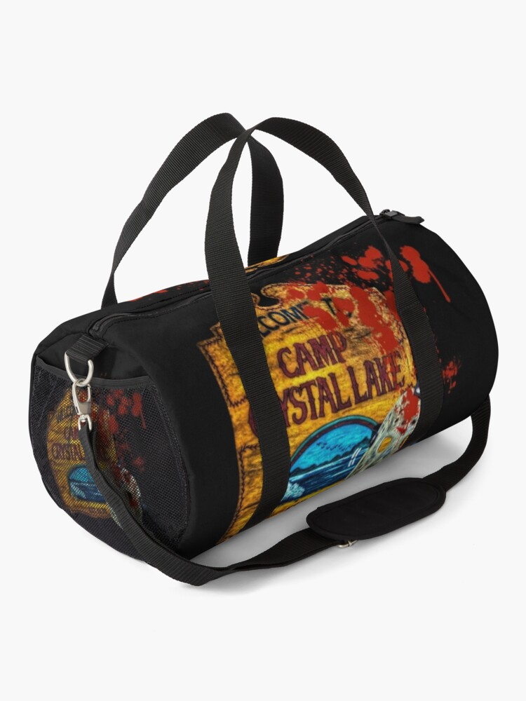 Alternate view of Friday The 13th, Camp Crystal Lake, Jason Voorhees Mask, Movie Fan  Art Duffle Bag