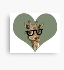 Ironic Lovely Lashes Giraffe Canvas Print