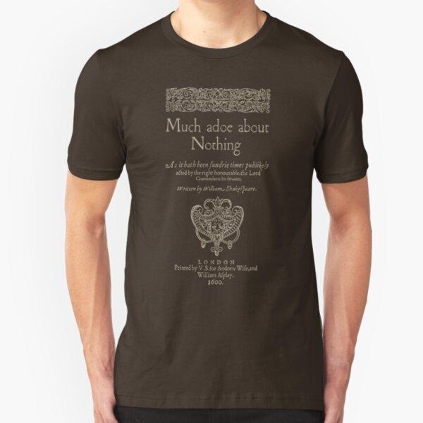 Shakespeare, Mucho ruido y pocas nueces. Versión de ropa oscura Camiseta ajustada