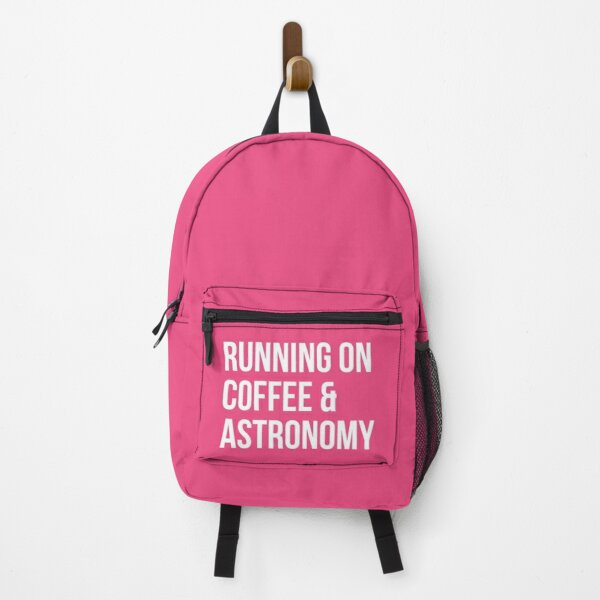 Running on Coffee and Astronomy for Women Backpack