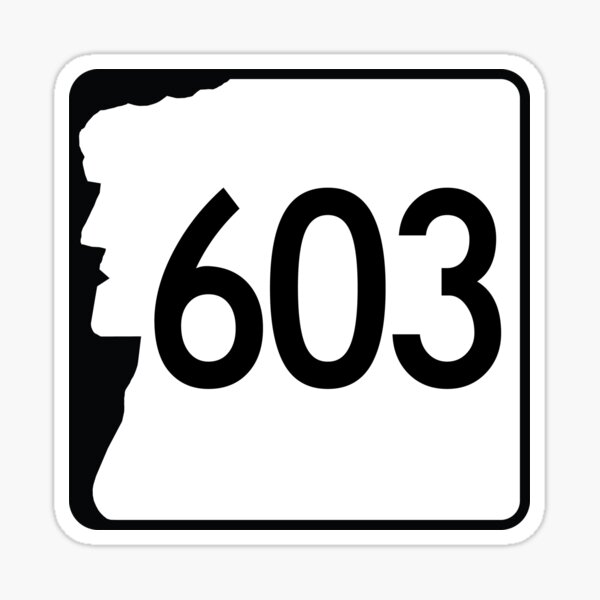 New Hampshire State Route 603 (Area Code 603) Sticker