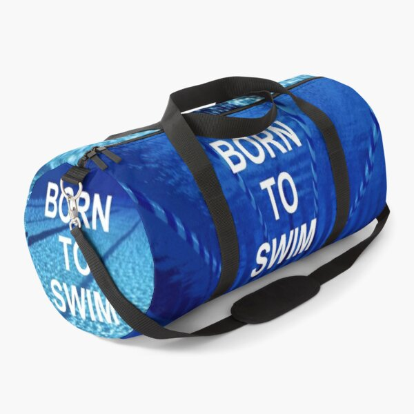Swimming Inspirational Quote Duffle Bag