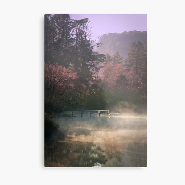 Daylesford Lake - Early Mist Metal Print