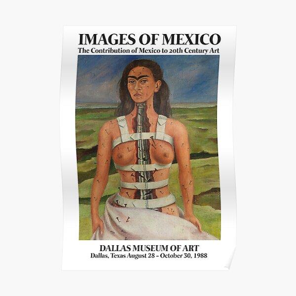 "Frida Kahlo Exhibition Art Poster - ""The Broken Column"" 1988 Poster"