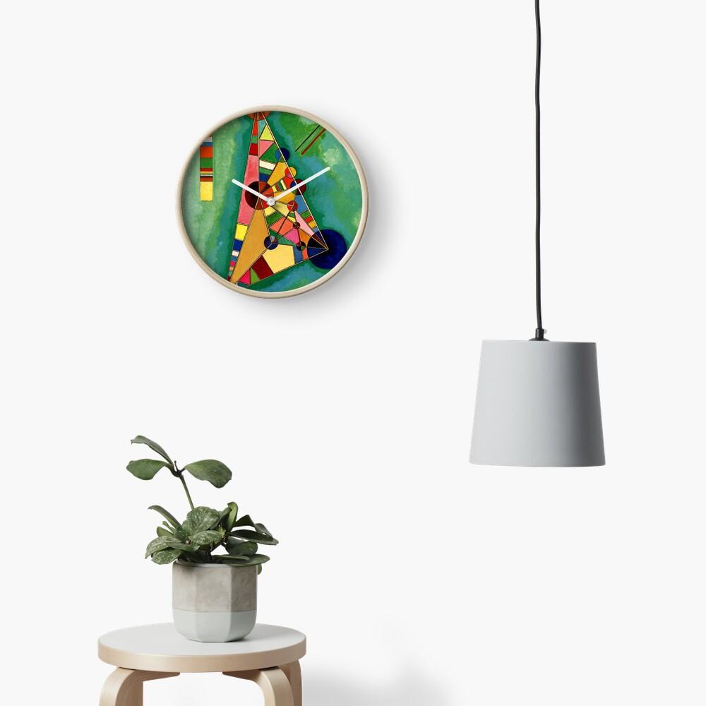 Kandinsky - Multicolored Triangle, abstract art Clock