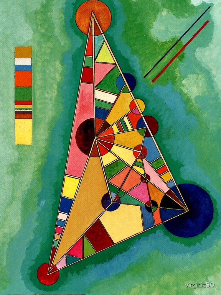 Kandinsky - Multicolored Triangle, abstract art by virginia50