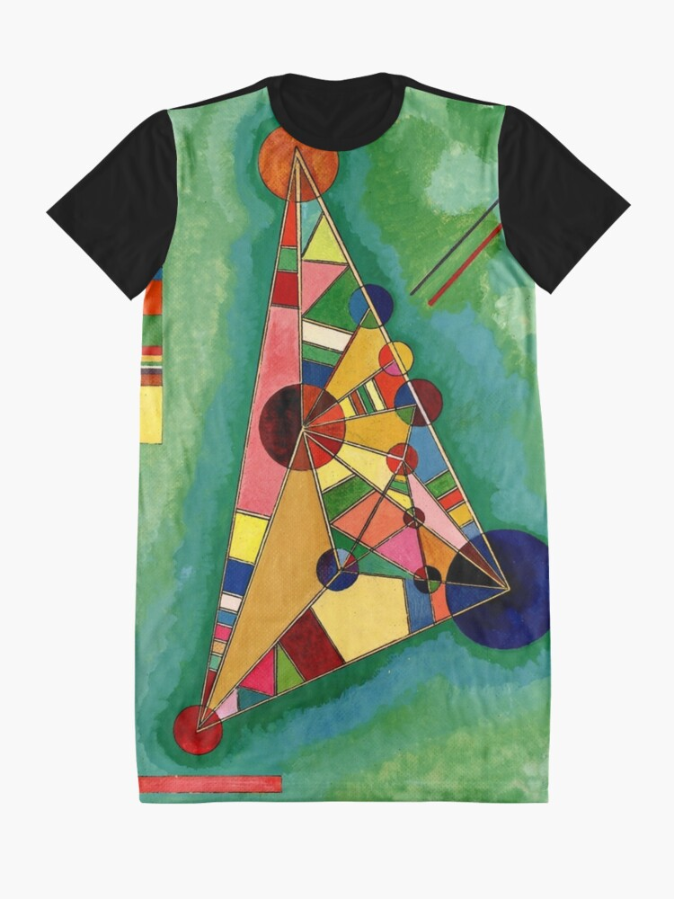 Alternate view of Kandinsky - Multicolored Triangle, abstract art Graphic T-Shirt Dress