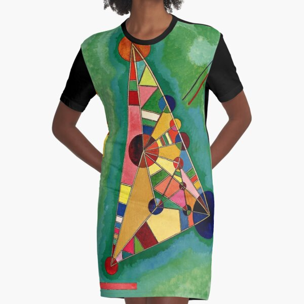 Kandinsky - Multicolored Triangle, abstract art Graphic T-Shirt Dress