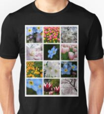 Spring Flowers Montage 1 Unisex T-Shirt