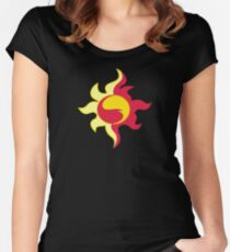 My little Pony - Sunset Shimmer Cutie Mark V3 Women's Fitted Scoop T-Shirt