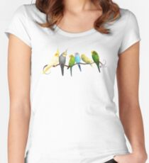 Small parrots Women's Fitted Scoop T-Shirt