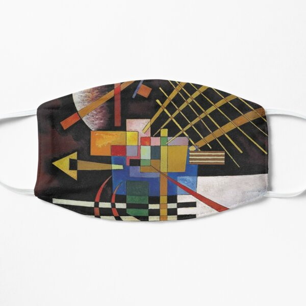 Kandinsky - Above and Left, popular abstract artwork Flat Mask