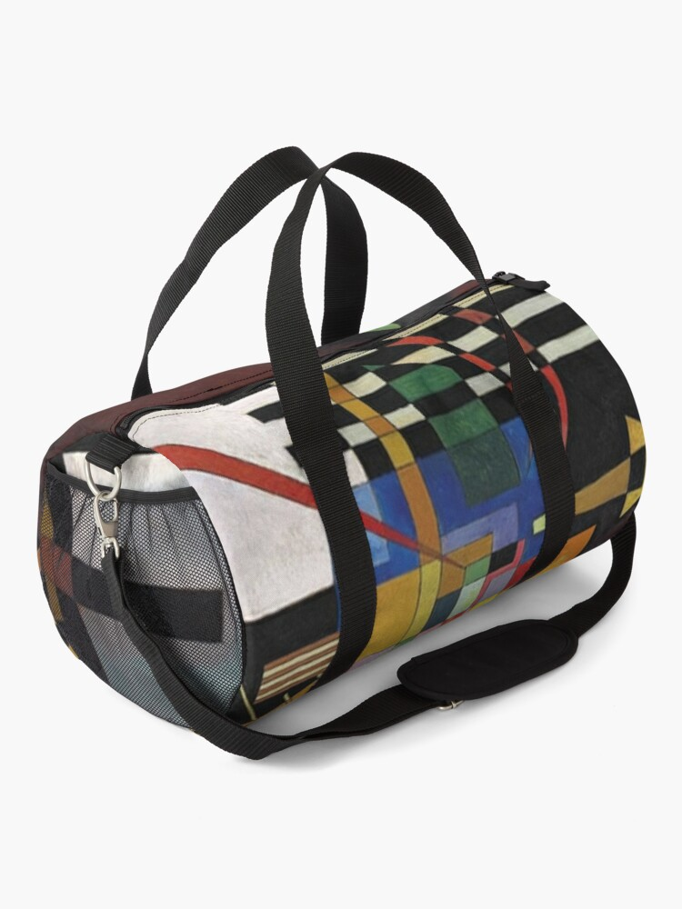 Alternate view of Kandinsky - Above and Left, popular abstract artwork Duffle Bag