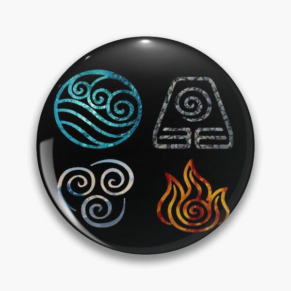 Avatar the Last Airbender Element Symbols Pin