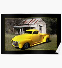 Canary Yellow Chevy Pickup Poster