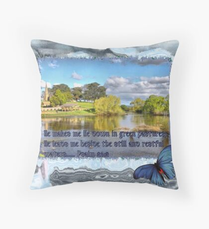 Visit the Still Waters Throw Pillow