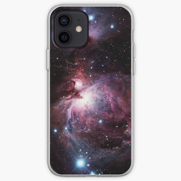 The Orion Nebula Combining Infrared (ESO) and Visible Light (VISTA) Images. iPhone Soft Case