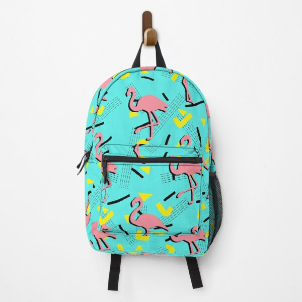 Flamingos Memphis #redbubble #decor #buyart Backpack