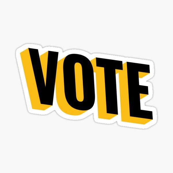 VOTE - yellow and black Sticker