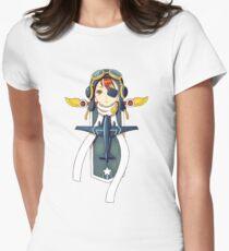 Pilot Banner Womens Fitted T-Shirt