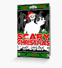 Scary Christmas Zombies Greeting Card