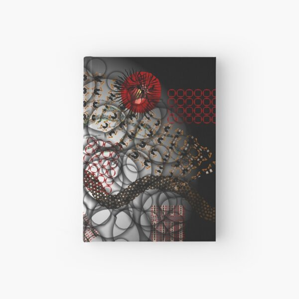 Abstract composition #5 Hardcover Journal