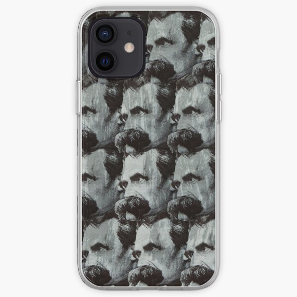 Nietzsche pattern iPhone Soft Case
