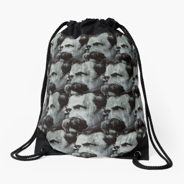 Nietzsche pattern Drawstring Bag