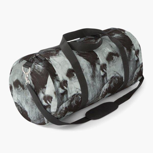 Nietzsche pattern Duffle Bag
