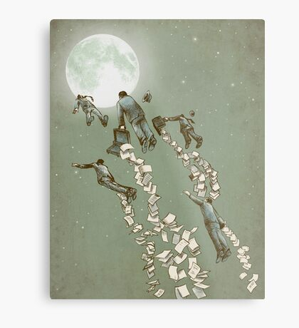Flight of the Salary Men (color option) Metal Print