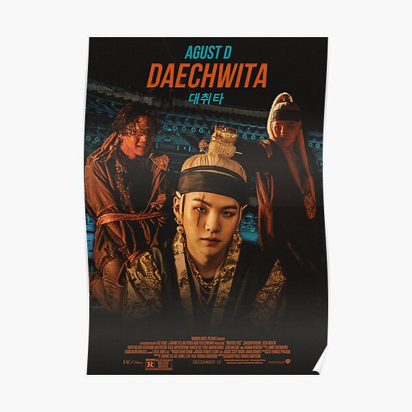 Agust D Daechwita movie poster Poster