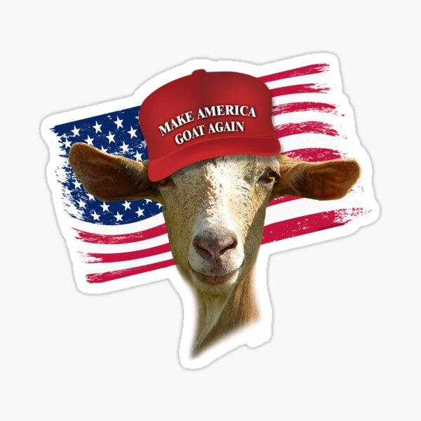 Make America GOAT Again Golden Guernsey Goat Sticker
