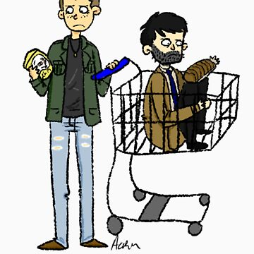 Cas and Dean go shopping by Cheeselock