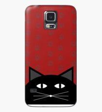 Funda/vinilo para Samsung Galaxy black cat