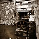Water Wheel - West Point on The Eno, Durham, NC, USA by Julie Conway