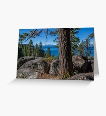 Above Chimney Beach  Greeting Card