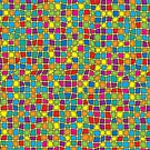 Colorful Stained Glass Look Geometric - Yellow Tint by artonwear