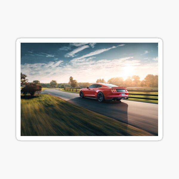 Mustang Sunset Sticker