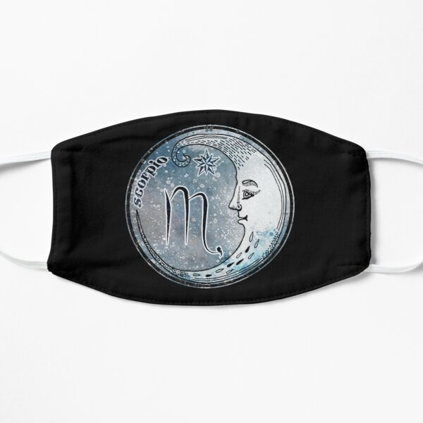 Scorpio Moon Sign Astrology Zodiac Symbol Stars and Crescent Moon  Mask