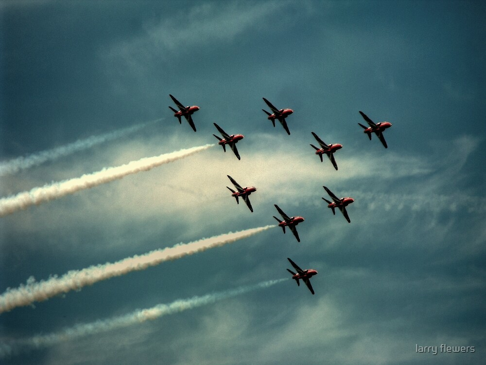 """Ladies and Gentleman, The Red Arrows""  by larry flewers"