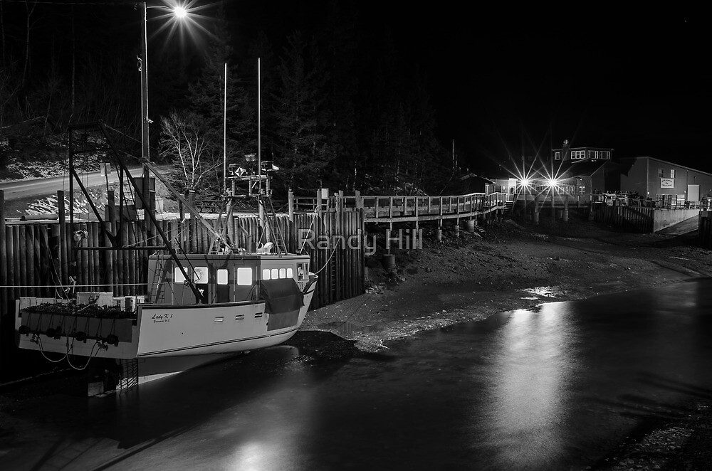 Low tide at Halls Harbour by Randy Hill