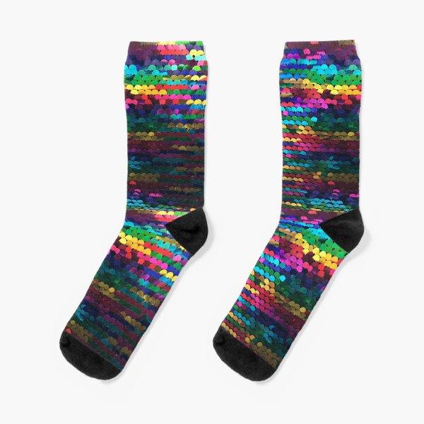 Rainbow sequins  Socks