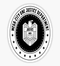 Mega-City One Justice Department Judge Dredd Sticker