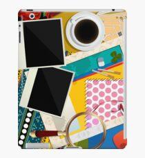 Scrapbook background iPad Case/Skin