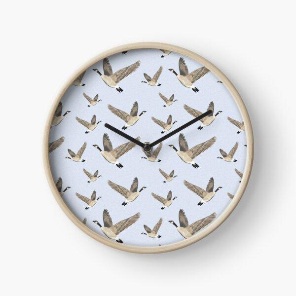 Flying Canada Geese Clock
