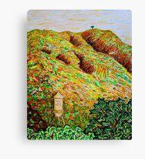 Cahuenga Peak, Warner Bros tower, David Olson Canvas Print