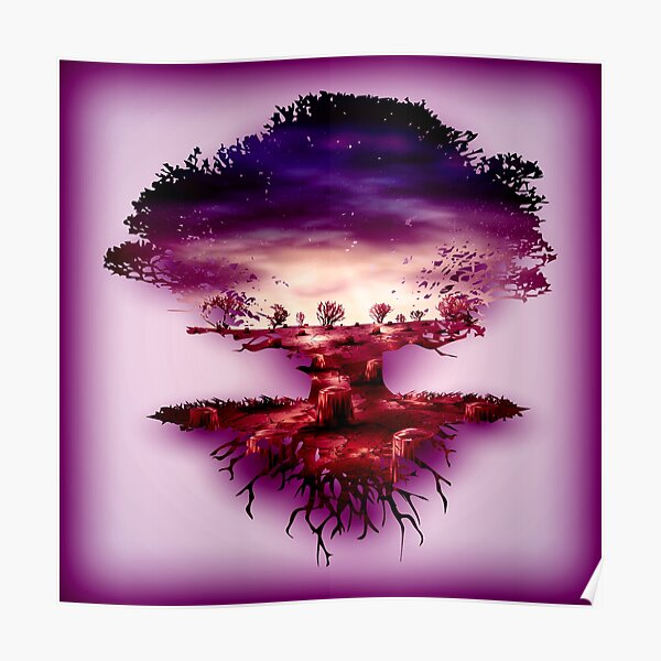 Mystical Tree of Life Design Poster