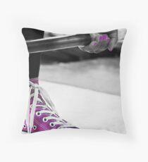 Purple Shoe Throw Pillow
