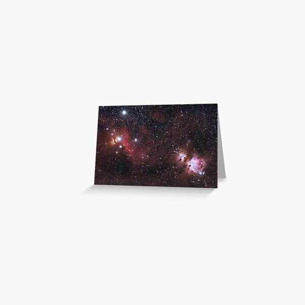 Orion Nebulas Greeting Card